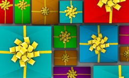 Presents Background Royalty Free Stock Photos