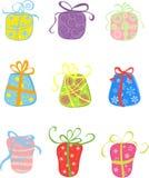 Presents background set. Vector. Illustration stock illustration