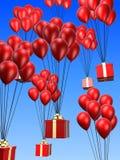 Presents and balloon Stock Photo