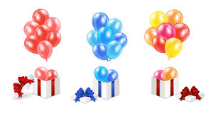 Presents with balloons Stock Image