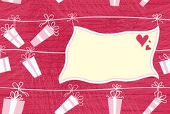 Presents and banner in vector Royalty Free Stock Images