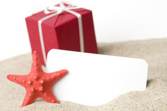Presents from beach Royalty Free Stock Photography