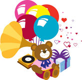 Presents, birthday, holiday. Royalty Free Stock Image
