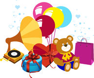 Presents, birthday, holiday. Royalty Free Stock Photos