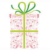 Presents box. Highly detailed stylized presents box Royalty Free Stock Images
