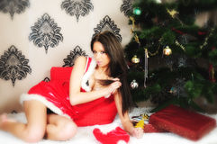 Presents at Christmas Royalty Free Stock Images