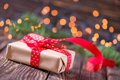 Presents and christmas decoration Stock Images