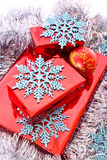 Presents and Christmas decorations Stock Images