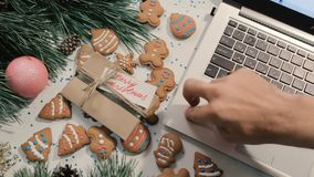 Presents on Christmas and New Year holidays stock footage