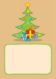 Presents and christmas tree Royalty Free Stock Images