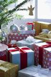 Presents By Christmas Tree Royalty Free Stock Photography
