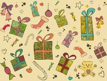 Presents for Christmas,vector illustration Royalty Free Stock Photos