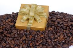 Presents and Coffee Beans Royalty Free Stock Images