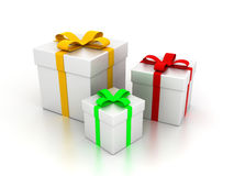 Presents. 3D image of presents on white backgorund Stock Image