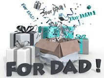 Presents for dad Stock Photos