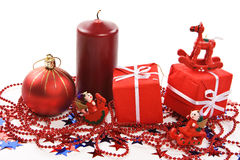 Presents and decorations Stock Image