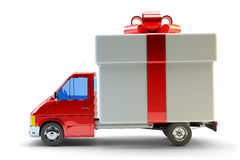 Presents delivery service concept Royalty Free Stock Photos