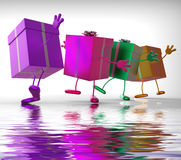 Presents Displays Buy Gift For Special Occasion Royalty Free Stock Photography