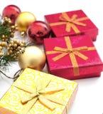 Presents för jul och nytt år Royaltyfria Bilder