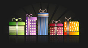 Presents, Gifts, Birthday, Wrapped Royalty Free Stock Photo