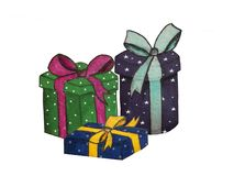 Presents and gifts royalty free illustration