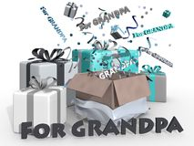 Presents for grandpa Royalty Free Stock Photography