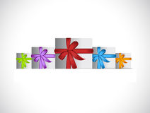 Presents inside a paper pocket. illustration Royalty Free Stock Image
