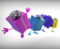 Presents Mean Give And Receive Gifts For Special Royalty Free Stock Images