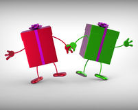 Presents Mean Receiving And Unwrapping Xmas Stock Images