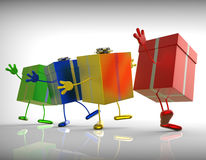 Presents Mean Shopping For Special Or Perfect Royalty Free Stock Images