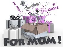 Presents for mom Royalty Free Stock Image