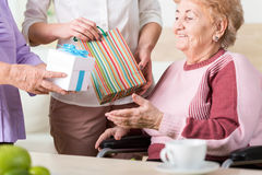 Presents for older lady Stock Images