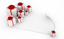 Presents over paper Royalty Free Stock Photography