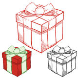 Presents and packages illustration Stock Photos