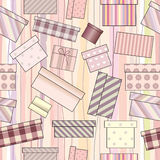 Presents pattern Stock Photos