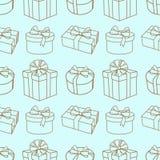 Presents pattern Stock Image