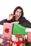 Presents peppermint Stock Image