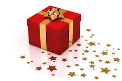 Presents on Red Royalty Free Stock Photography