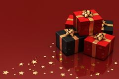 Presents on Red Royalty Free Stock Image
