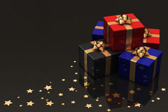 Presents on Red Stock Photography