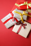 Presents on red background - Series 2 Stock Image