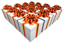 Presents with Red and Gold band Royalty Free Stock Photos