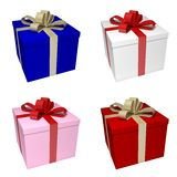 Presents with ribbon Stock Image