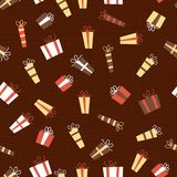Presents seamless pattern in vector Royalty Free Stock Photo