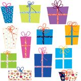 Presents set Royalty Free Stock Photos