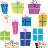Presents set Royalty Free Stock Photos