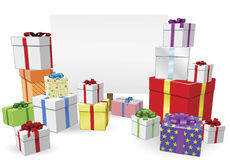 Presents and Sign Concept Stock Image