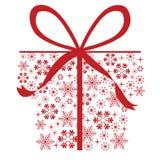 Presents snowflakes Royalty Free Stock Photos