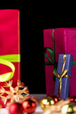 Presents, spheres and stars Stock Photography
