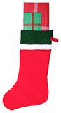 Presents in the Stocking. Two presents in a Christmas Stocking Stock Image